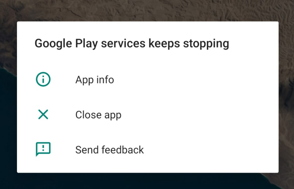 Google Play Service Keeps Stopping
