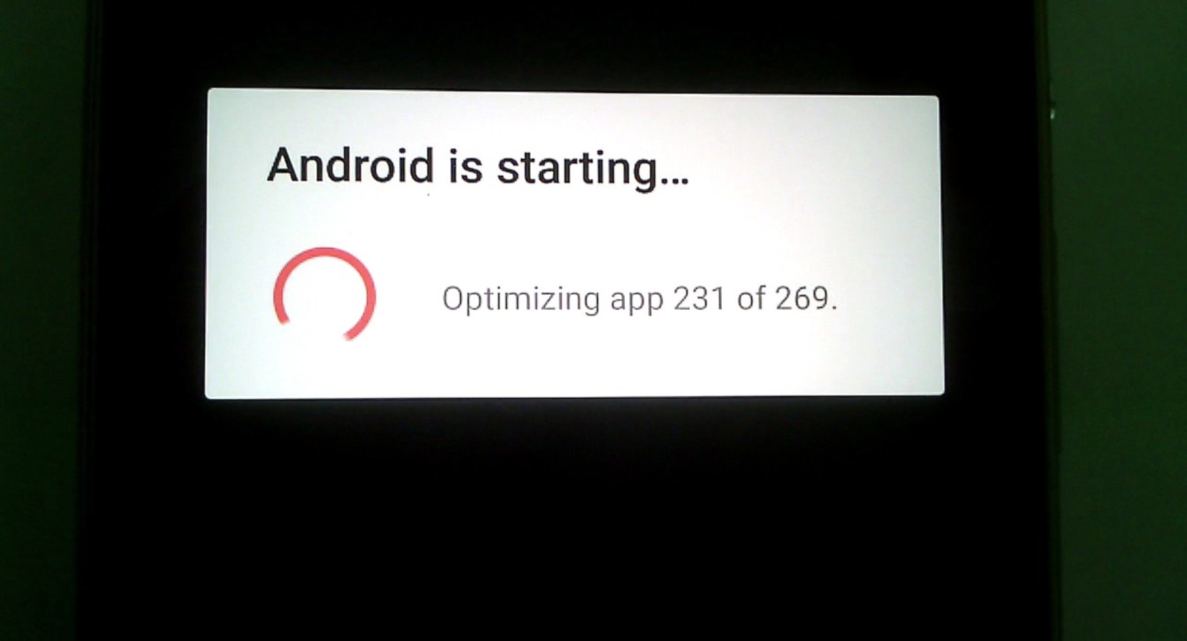 How to Fix Android is Starting Optimizing App
