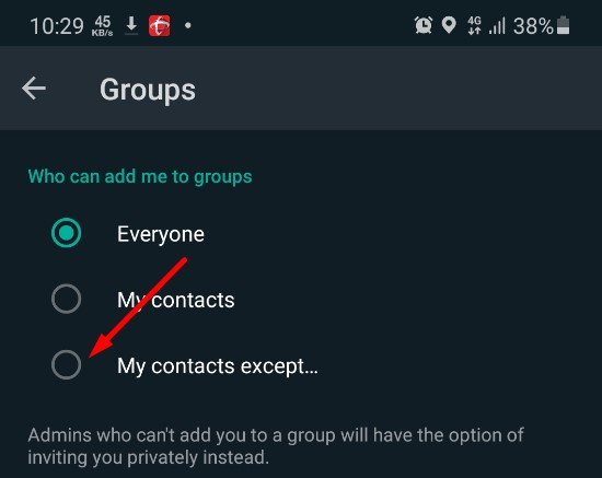 Other Tricks to leave whatsapp group