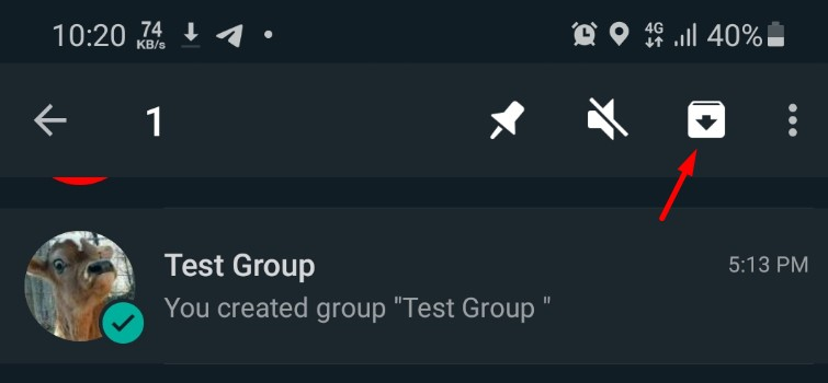 archiving whatsapp group