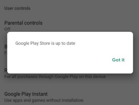 tap the Play Store version